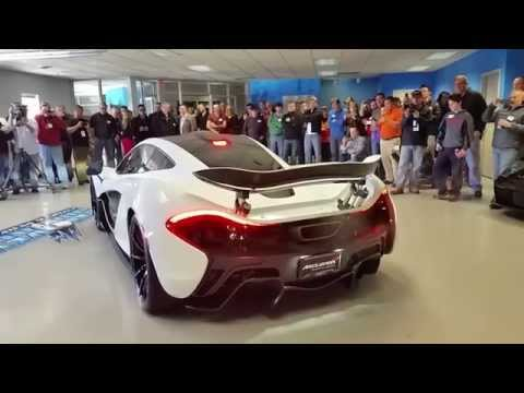 Alaskan Diamond White McLaren P1 Unveiling, Cold Start and Race Mode