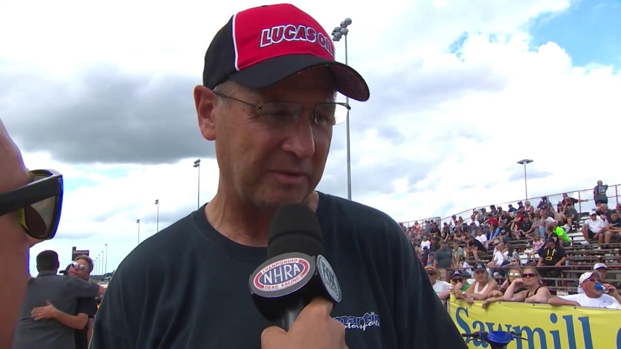 2018 Summit Racing Equipment Nationals Super Gas winner Tom Dimond