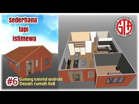 Contoh Denah Rumah Kampung  desain rumah sederhana 6x8 lengkap dengan furniture lik
