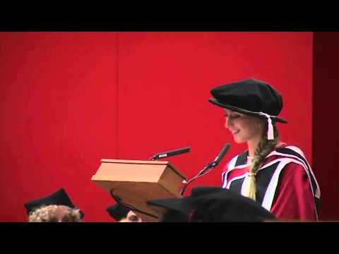 Laura Trott receives her Honorary Degree at the University of Essex