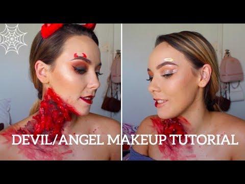 Halloween Makeup Devil And Angel.Devil Angel Halloween Makeup Tutorial Chloe Bradshaw