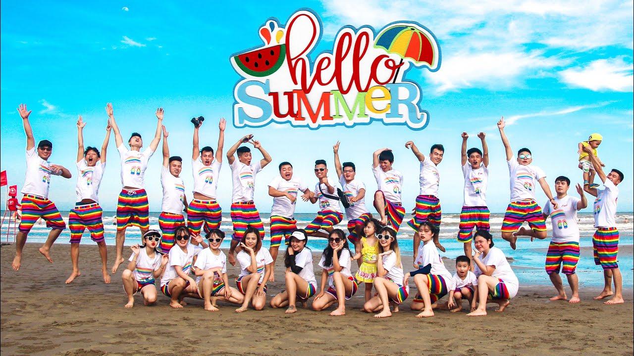 HELLO SUMMER: Thử Thách Với Trò Chơi Vận Chuyển Bóng Tại Biển Sầm Sơn Cùng Với Táo Xanh TV