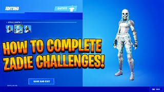 How to Complete tнe Zadie Challenges and unlock the Arctic and Jungle Edit Styles - Zadie Fortnite