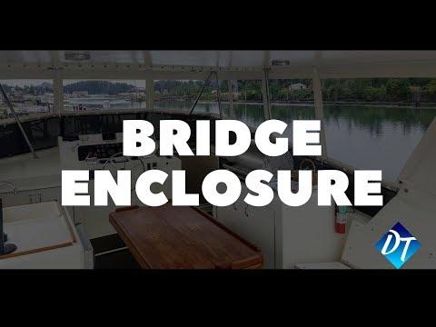 70' Hatteras Bridge Enclosure