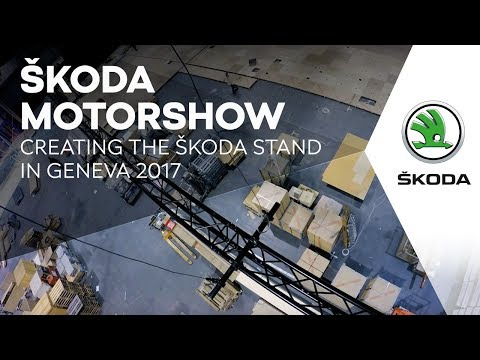 Creating the ŠKODA stand in Geneva