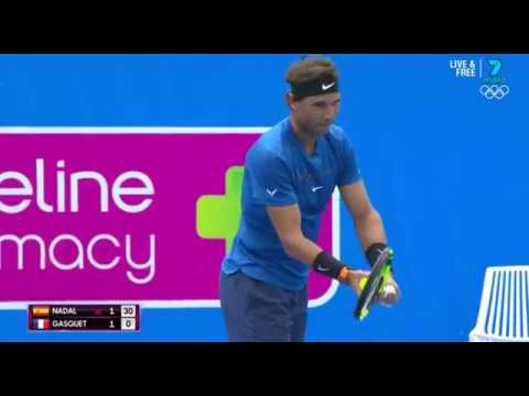 2018 Kooyong Classic Exhibition: Rafael Nadal vs. Richard Gasquet