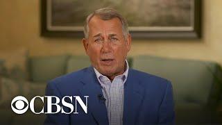 Former House Speaker John Boehner Talks Refuting Conspiracy Theories In The GOP
