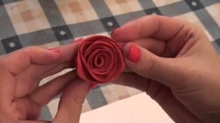 Лепим розу из пластилина