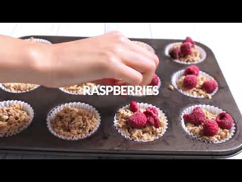 Raspberry Oat Muffins Vegan and Gluten-free
