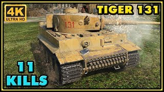 World of Tanks | Tiger 131 - 11 Kills - 4K Damage Gameplay