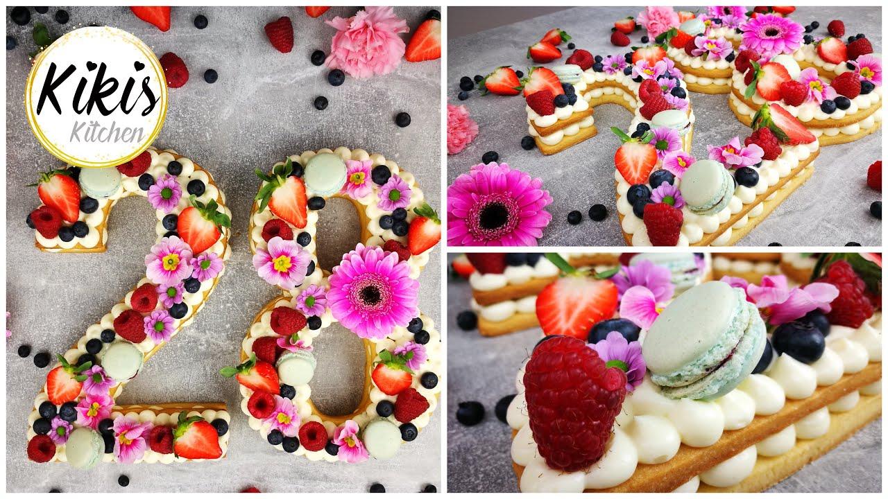 Zahlentorte   Instagram Trend   Rezept   Numbercake   Alphabet Cake   Letter Cake