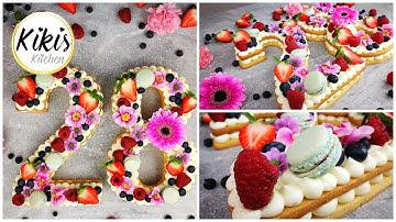 Zahlentorte | Instagram Trend | Rezept | Numbercake | Alphabet Cake | Letter Cake