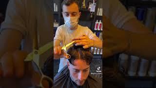 Long Hair Oval Face Shaped Men Haircut ✂️Video