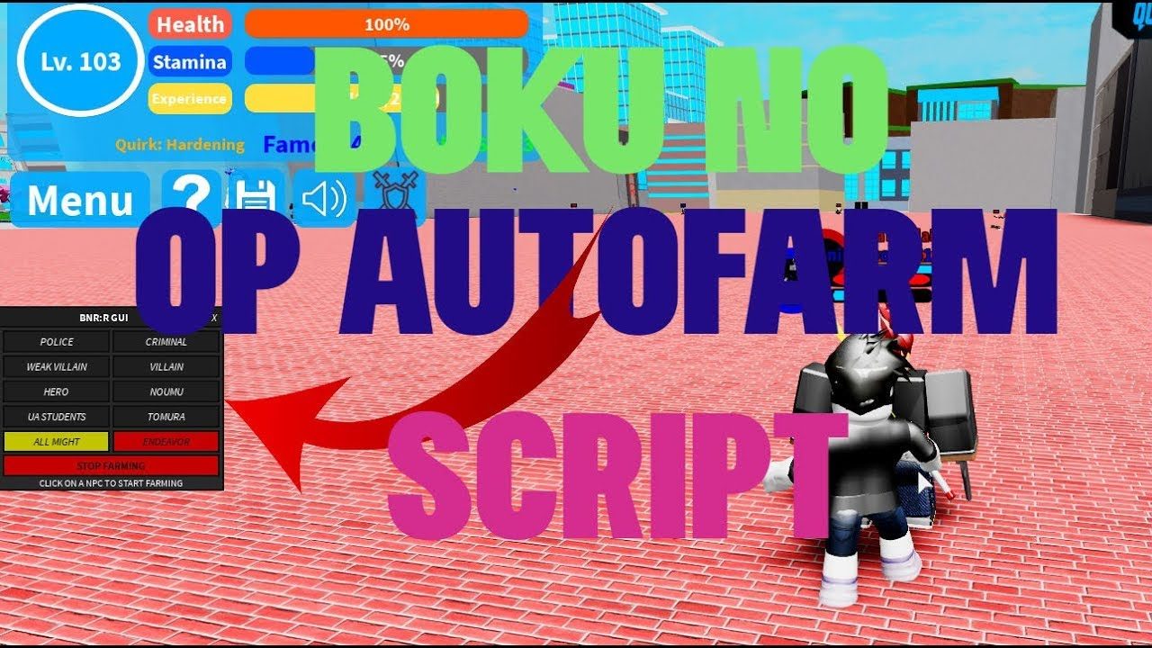 New Boku No Roblox Remastered Gui Script Hack Auto Farm Max Level And More Op Youtube