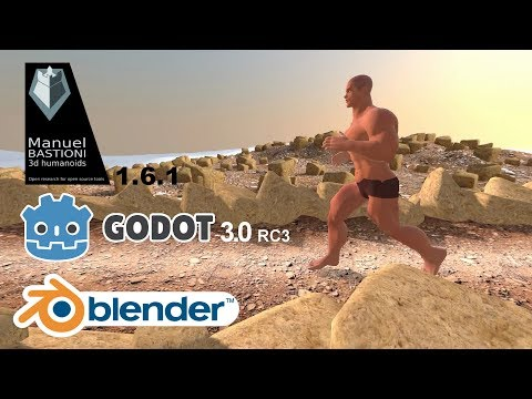 Godot 3 0 RC3 - Endless Runner - (with Manuel Bastioni Lab