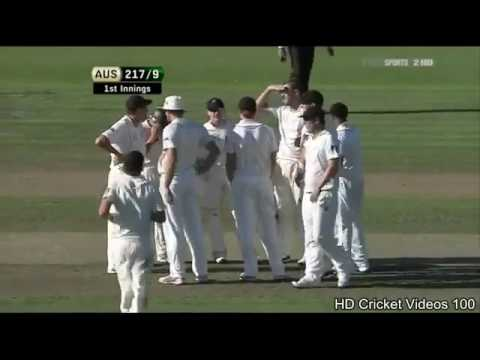 Daniel Vettori 6 wickets vs Australia 1st Test 2010
