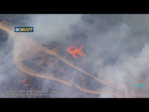 VIDEO: Skyline Fire burning 50-75 acres; mandatory evacuations, road closures in place   ABC7