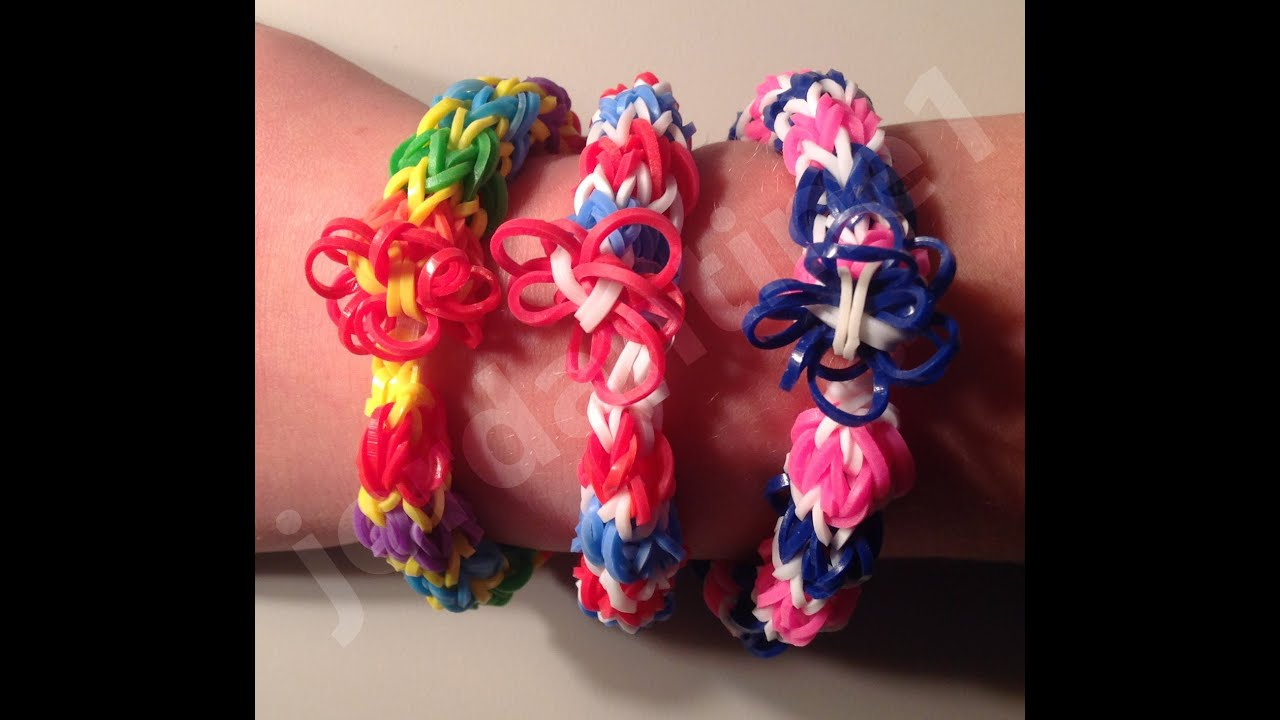 New Rainbow Loom Flower Fun Tower Bracelet