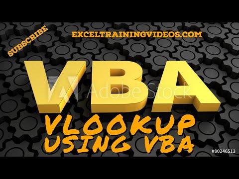 VLOOKUP Using VBA
