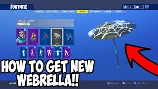 "How To Get The ""WEBRELLA"" Umbrella in Fortnite Battle Royale!"