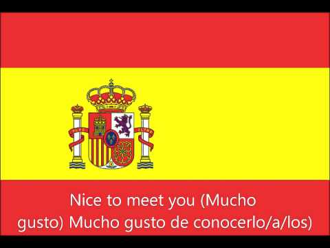 Nice to meet you all in spanish