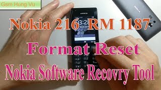 Nokia 216 Lock Code Factory Reset ok by Nokia Software Recovery Tool 8.125.