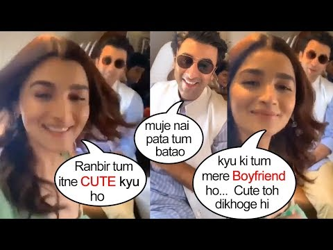 Alia Bhatt Openly FLIRTS With Boyfriend Ranbir Kapoor & Shows her L0VE For Him On Their Private Jet