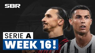 Serie A Week 16 Football Match Tips Odds and Predictions