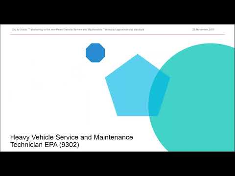 Transitioning to the new Heavy Vehicle Service Maintenance Technician apprenticeship standard