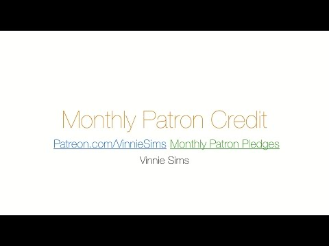 Monthly Patron Credit - October 2014