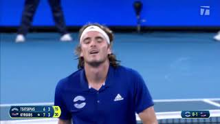 Kyrgios vs Tsitsipas Atp Cup 2020 Highlight