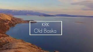AERIAL Croatia Krk Old Baska Beach I Krk Stara Baska