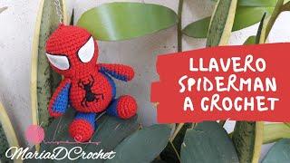 Llavero Hombre Araña    Keychain Spiderman    Aprende a tejer un llavero a crochet