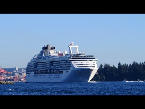 Coral Princess - Cruise Ship in Vancouver, Sept 20, 2014