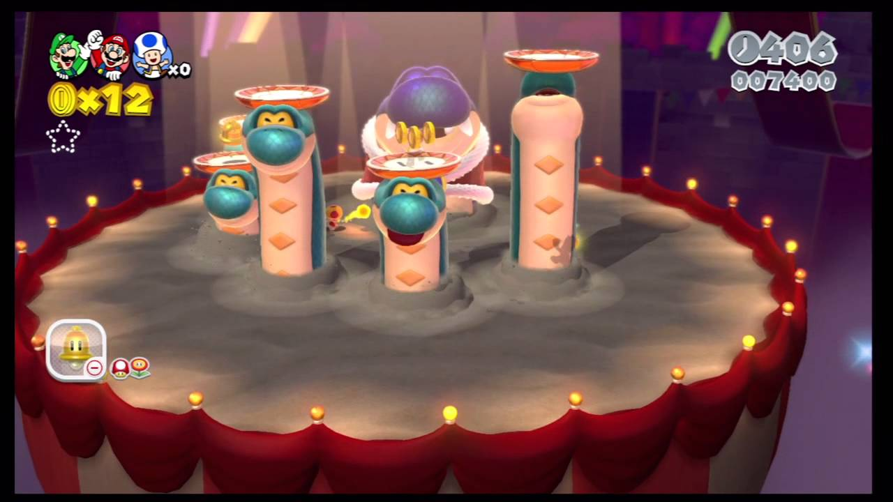 Super Mario 3D World - 3rd World Boss - Hisstocrat - YouTube