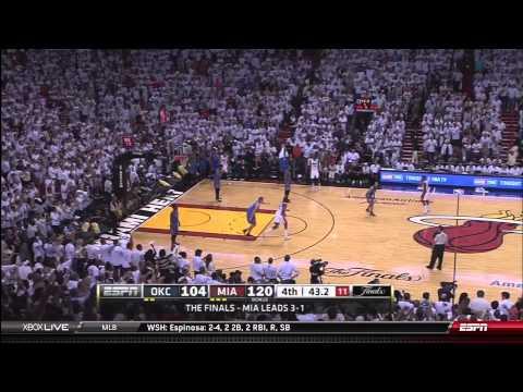 2012 NBA Finals Game 5: Miami Heat vs OKC Thunder Final Minutes