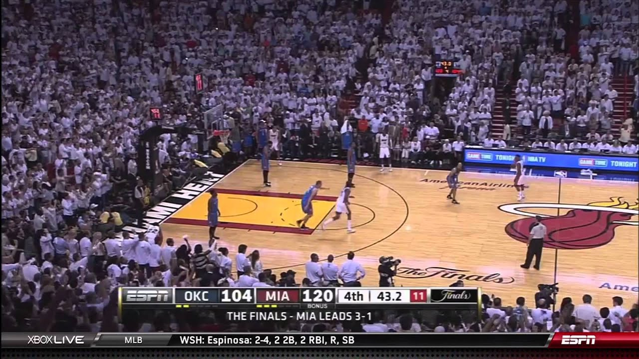 7a182a4e9f0b 2012 NBA Finals Game 5  Miami Heat vs OKC Thunder Final Minutes ...