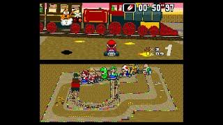 Kalimari Desert... in Super Mario Kart (SNES)
