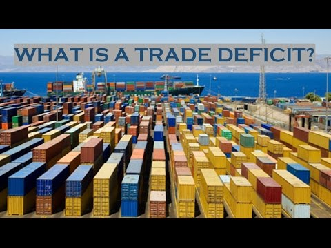 What is a trade deficit?