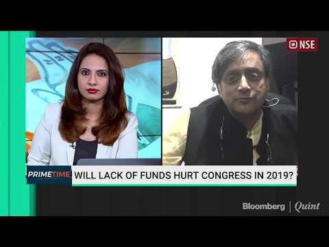 Shashi Tharoor On Congress' Cash Crunch