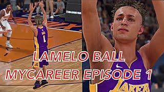 NBA 2K18 MyCAREER LaMelo Ball EPISODE 1 - FIRST NBA GAME!