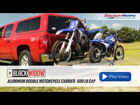 Aluminum Double Motorcycle Carrier - 600 lb Capacity