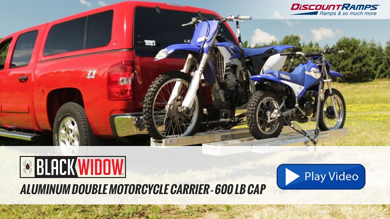 Aluminum Double Motorcycle Carrier 600 Lb Capacity