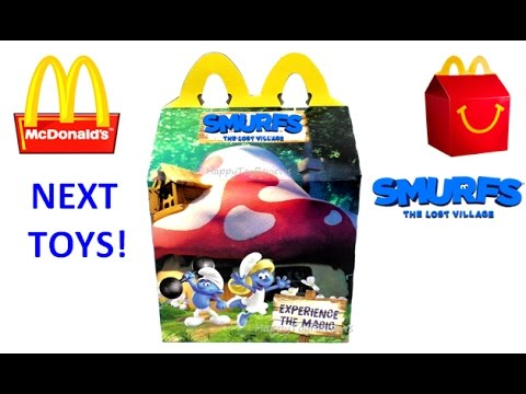 SMURFS THE LOST VILLAGE MOVIE MAGNETS McDONALD'S HAPPY MEAL TOYS WORLD SET COLLECTION BOOK SMURFETTE from YouTube · Duration:  3 minutes 15 seconds
