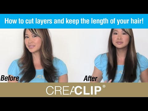 How to Cut Layers and Keep The Length of Your Hair