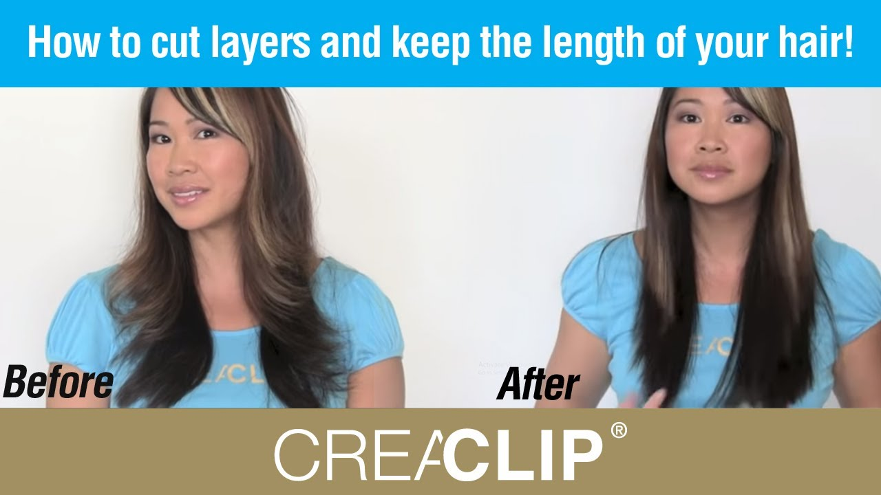 how to style hair without bangs how to cut layers and keep the length of your hair womens 1542