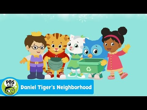 DANIEL TIGER'S NEIGHORHOOD | Clean Up, Pick Up (Song) | PBS KIDS