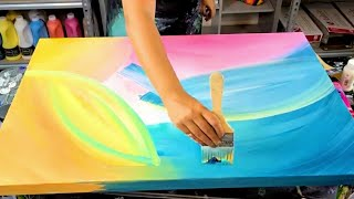 6 Unique and Creative Abstract Acrylic Painting Ideas by Molly's Artistry (Combination Techniques)
