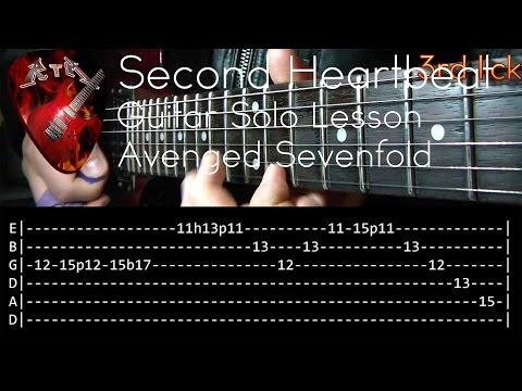 Second Heartbeat Guitar Solo Lesson - Avenged Sevenfold (with tabs)