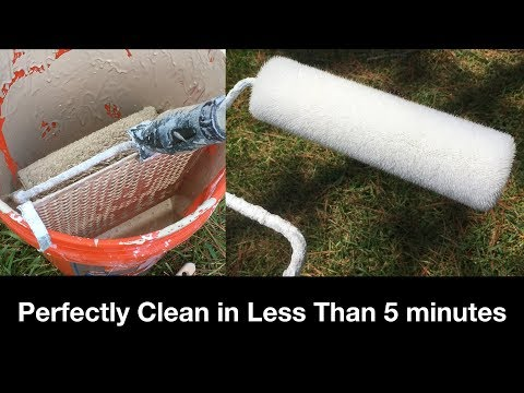 How to Clean a Paint Roller in less than 5 minutes